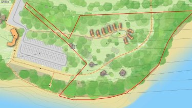 A diagram of the cabins that Queenscliffe Borough Council wants to see built near the town's lighthouse.