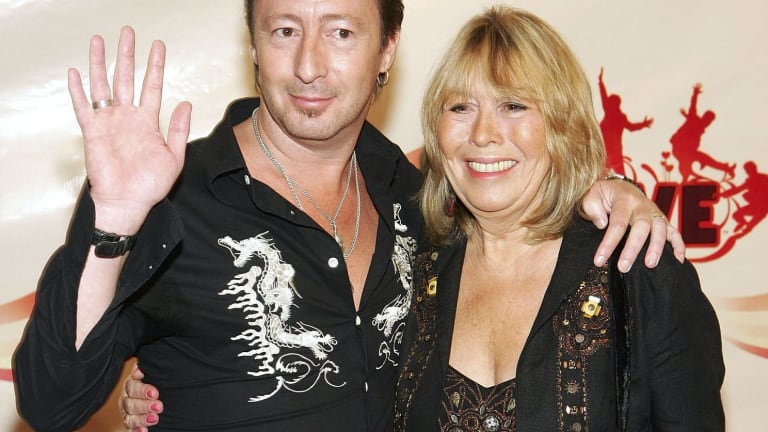 Cynthia Lennon, with her son Julian Lennon.