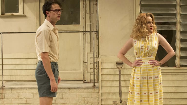 Jasper Jones - Tom Conroy and Kate Mulvany. Photo credit: Lisa Tomasetti