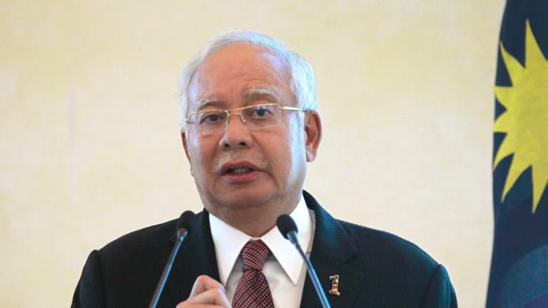 Najib Razak claims the hundreds of millions of dollars that turned up in his personal bank accounts were a gift from a Saudi prince.