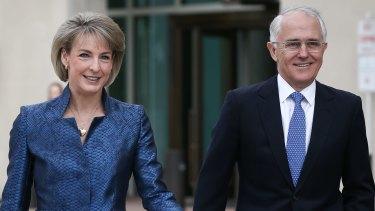 Michaelia Cash and Prime Minister Malcolm Turnbull.