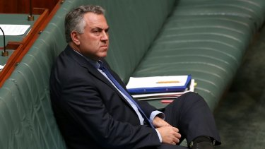 Treasurer Joe Hockey at the start of Question Time on Monday.