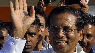 New Sri Lankan president Maithripala Sirisena.