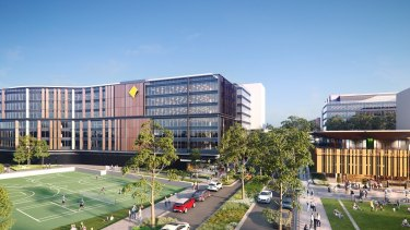 An artist's impression of the new Commonwealth Bank building at the Australian Technology Park, where Centuria has an interest.