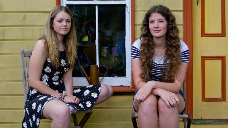 Uncertain future: Sophie Hawkshaw, 19, right, and Hannah Meegan, 17.