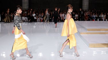 Maticevski creations on the runway at Fashion Week.