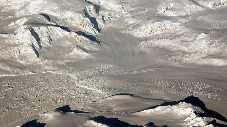 Glaciers seen during NASA's Operation IceBridge research flight to West Antarctica.