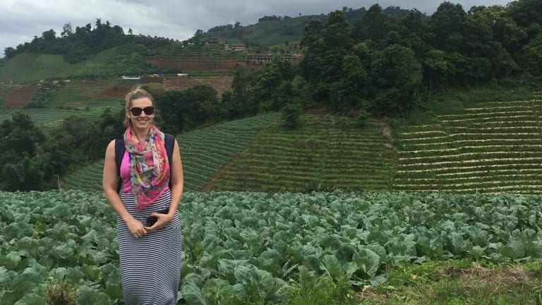 Amy Birchall, 25, is running content writing and consulting business Mint Content from Chiang Mai in Thailand.