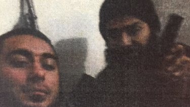 Caner Temel, one of the men Hamdi Alqudsi helped get to Syria, with Mohammad Ali Baryalei.