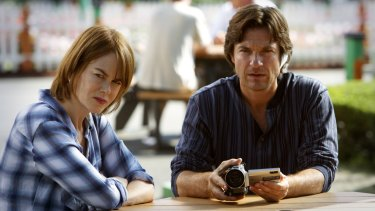 Nicole Kidman and Jason Bateman in <i>The Family Fang</i>.