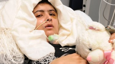 15-year old Malala recovers in Queen Elizabeth Hospital in Birmingham, England, after being attacked and shot in the head by Taliban gunmen in Pakistan for advocating education for girls.