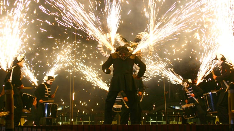 Les Tambours de Feu will take drums and pyrochtechnics into city laneways for the 2016 Melbourne Festival.