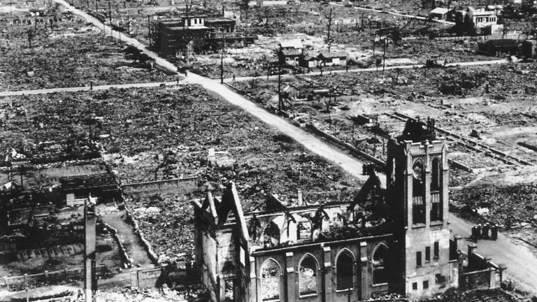 Devastation after the bomb.