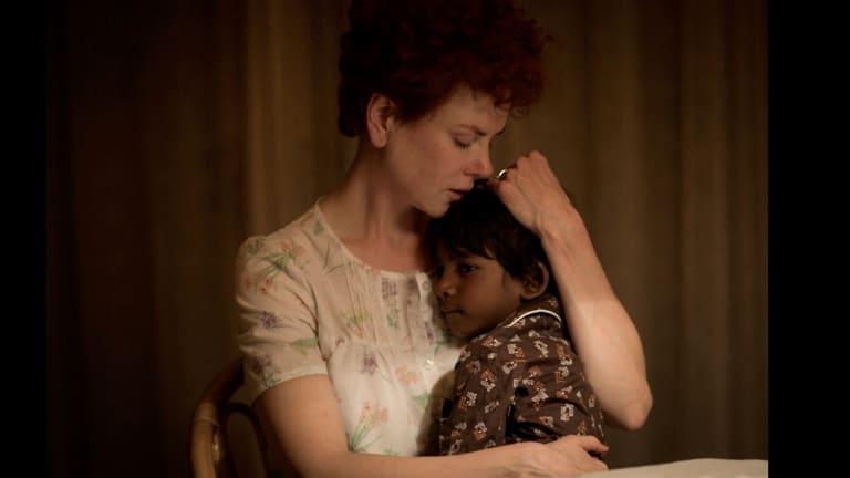 Nicole Kidman and Sunny Pawar in Lion.