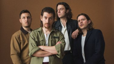 Matt Helders (left), Alex Turner, Nick O'Malley and Jamie Cook form Arctic Monkeys.