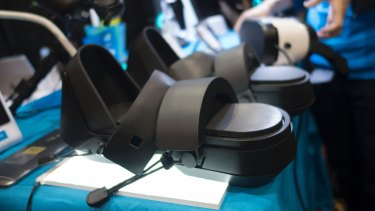 The Cerevo Taclim VR shoes.