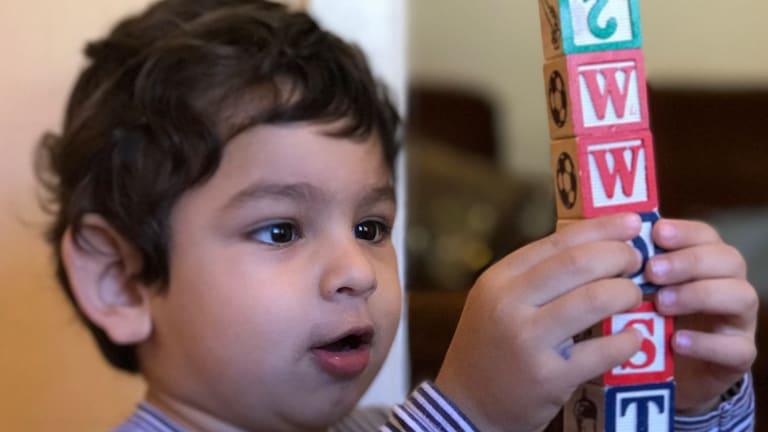 Samuel as a toddler today.