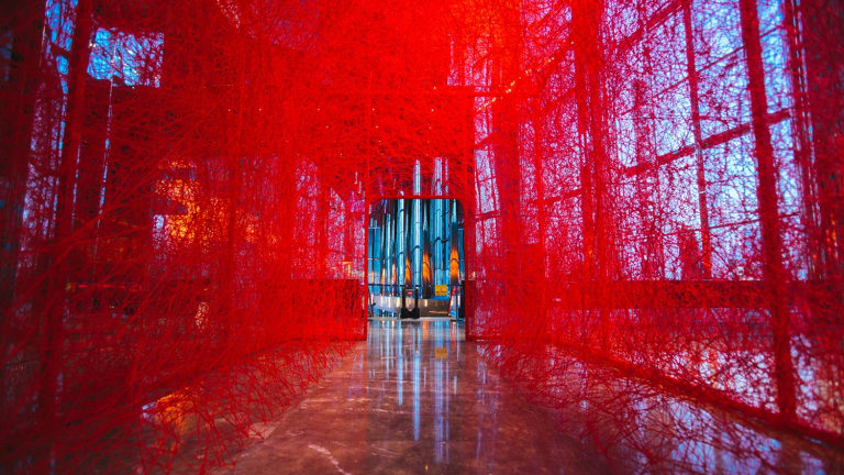 Japanese artist Chiharu Shiota's installation <i>The Home Within</i> is part of the 2016 Melbourne Festival.