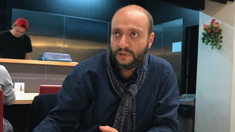 Iranian filmmaker Arash Kamali Sarvestani in Melbourne, June 2017.