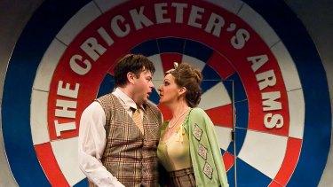 Guvnors Benjamin Watts and Catherine Jardine in <i>One Man, Two Guvnors</i>, directed by Chris Baldock
