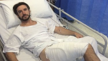 Gareth Clear, 36, recovering in hospital.