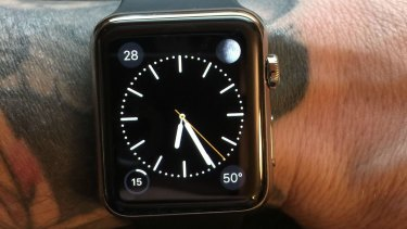 The photo of the malfunctioning Apple Watch posted by a Redditor.