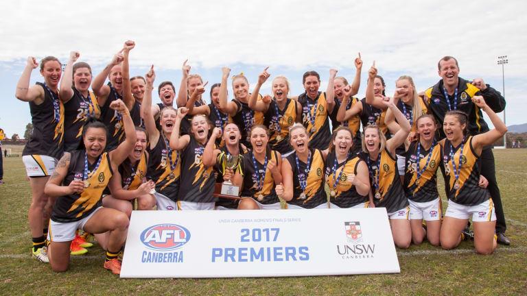 The Queanbeyan Tigers won the AFL Canberra women's grand final.