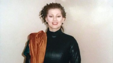 Paula Rasmussen dressed for her part in Les Troyens at the LA Opera in 1991.