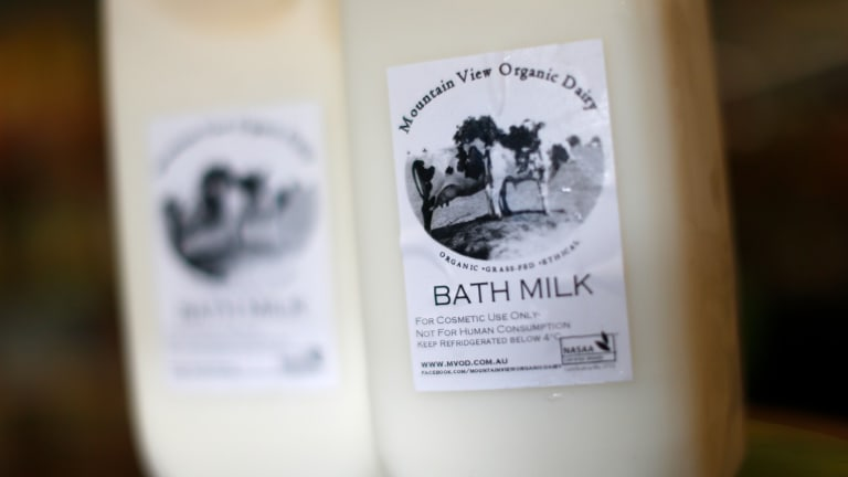 Linked to death: The Health Department says three of the five children affected had consumed Mountain View Organic Dairy Bath Milk.