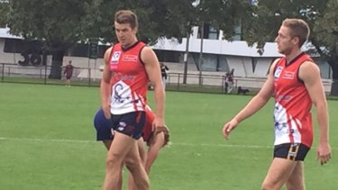Good to see you back: Jack Trengove in action on Friday morning.