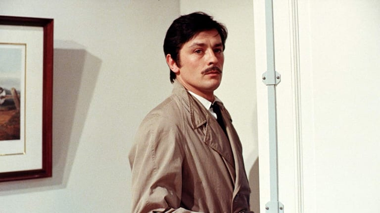 Alain Delon is suitably glacial as a gang leader in <i>The Red Circle</I>.