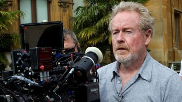 Ridley Scott on the set of the 2013 movie <i>The Counselor.</i>