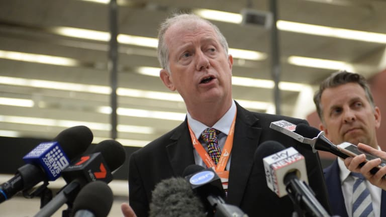 """Sydney Trains chief executive Howard Collins says a 3 per cent annual pay rise for workers is an """"extremely generous"""" offer."""