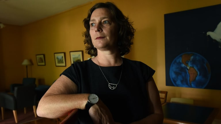 Reverend Nicole Fleming, who is a minister with the Uniting Church Balmain, wants to open up rooms in the church for asylum seekers.