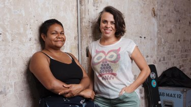 Writer and actor Ursula Yovich and director Leticia Caceres.