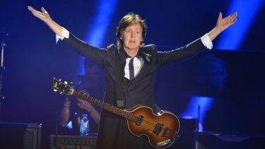 Paul McCartney on stage in Washington, 2016.