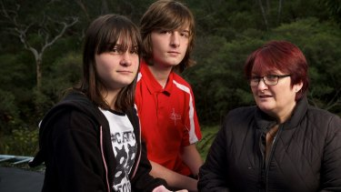 Emily, Lachlan and Debbie Rolfe are looking forward to the NDIS launch.