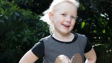 Evie Weir was two years old when she was diagnosed.