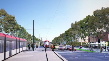 The light rail project business case was released in October 2014.