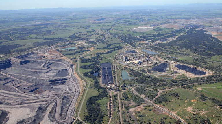 Coal mines in the Hunter Valley near Singleton.