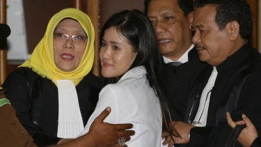 Jessica Wongso at Central Jakarta District Court on Thursday.