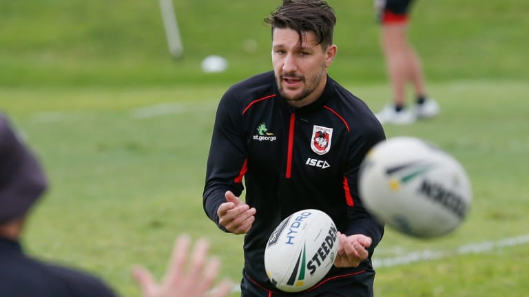 Gareth Widdop will be back in the No.6 jersey for the Dragons after playing fullback for England.
