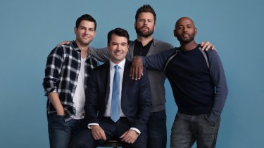 ABC's A Million Little Things stars David Giuntoli as Eddie, Ron Livingston as Jon, James Roday as Gary, and Romany Malco as Rome.