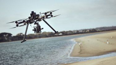 New take: A drone camera used to capture some of the action in the series.