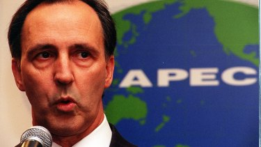 Keating as prime minister at an Asia Pacific Economic Cooperation conference in Osaka in 1995.