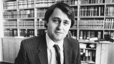 Malcolm Turnbull pictured in 1983 when he worked for Kerry Packer.