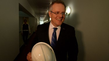 The newly-appointed Federal Treasurer Scott Morrison.