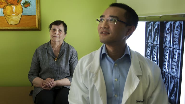 Doctor Michael Wong performed complex spinal surgery on cancer patient Pavka Crnov.