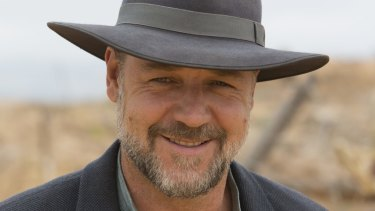 Cool: Russell Crowe on the set of <i>The Water Diviner</i>.