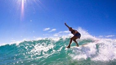 Anglesea longboarder Sam Suendermann is taking on the world.